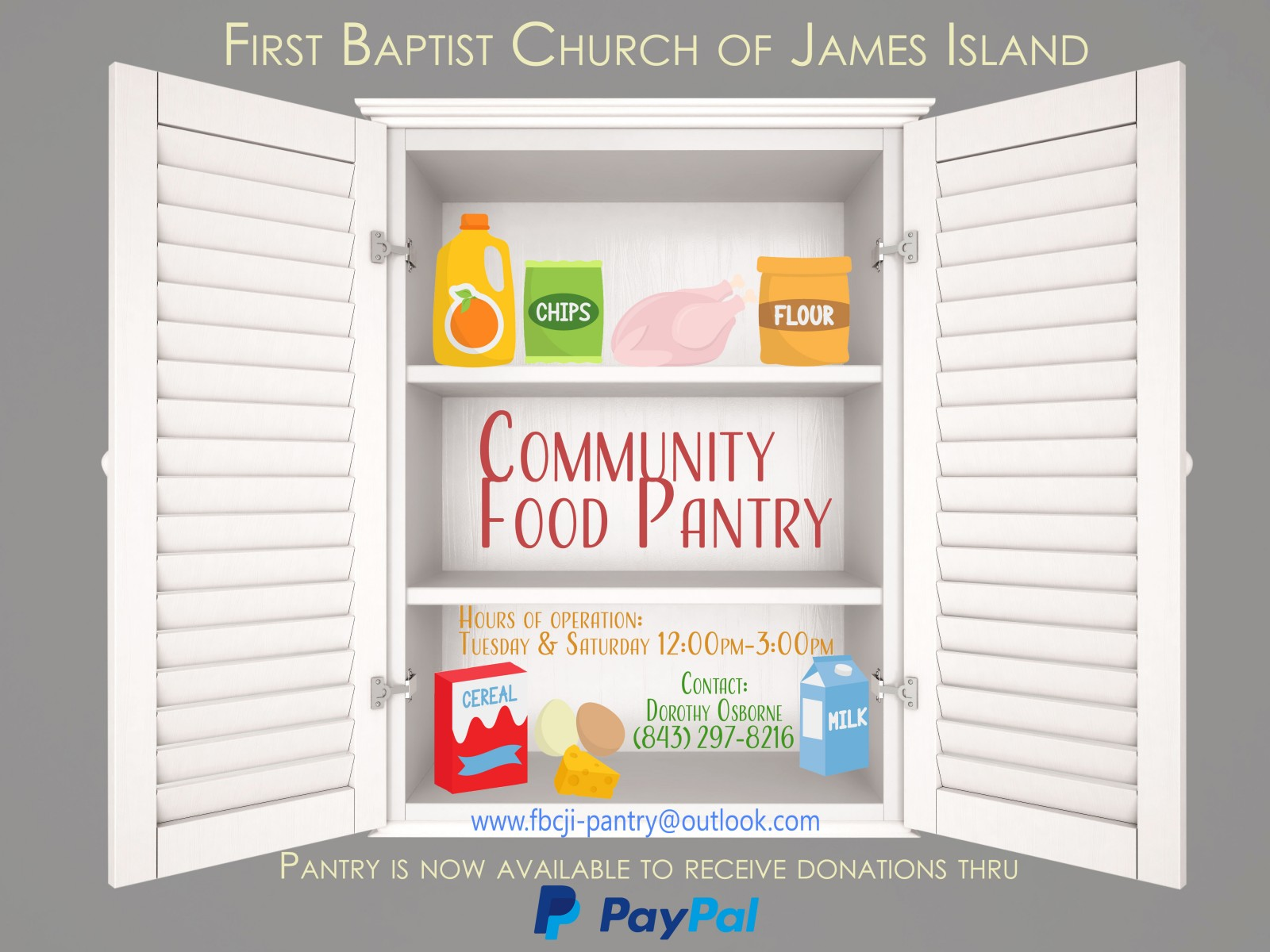 Food Pantry First Baptist Church of James Island