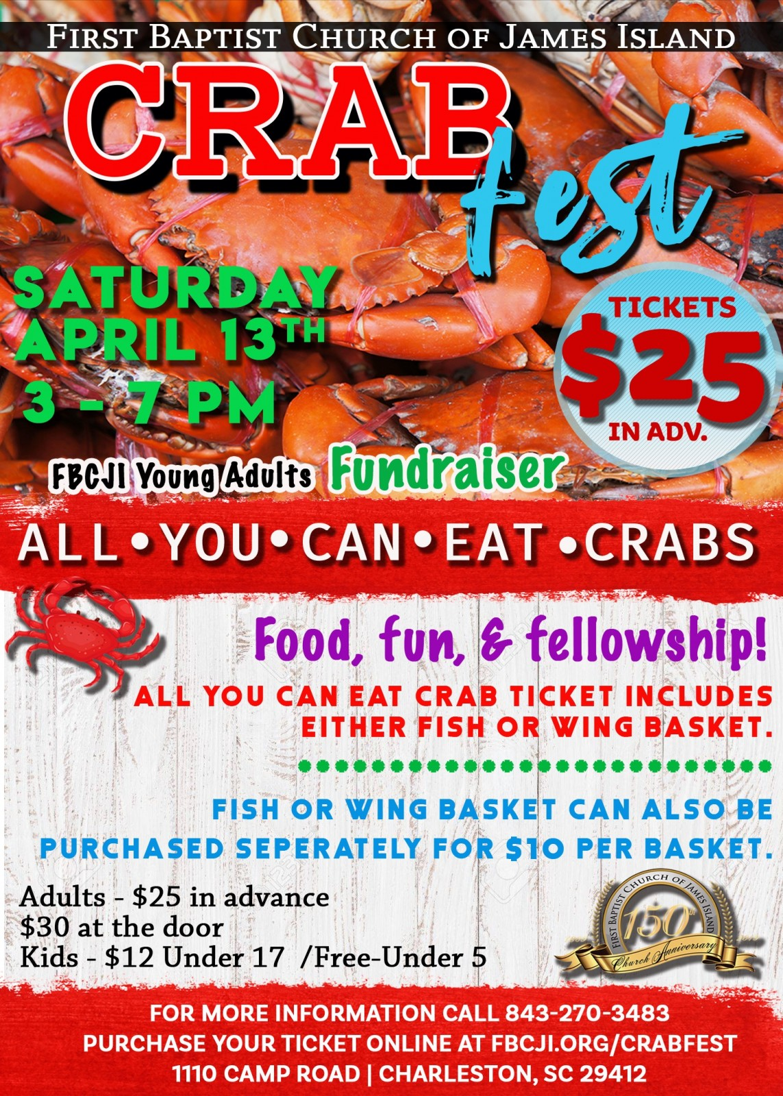 150th Anniversary Crab Fest Flyer