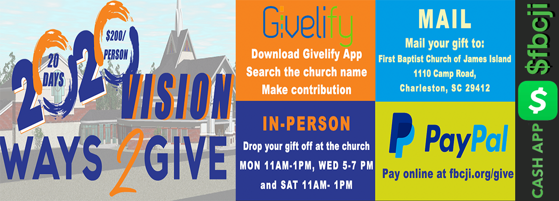 Ways to give contributions towards the church